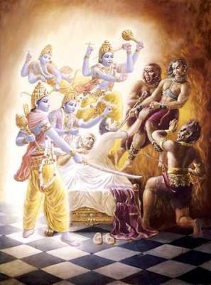 Les Visnudutas interviennent et empêchent les Yamadutas d'emmener Ajamila en Enfer