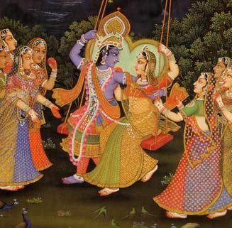 L'amour de Dieu dans le sentiment amoureux: Krishna et Radharani avec les gopis