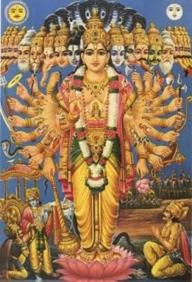Krishna-montre-Sa-Forme-universelle-Arjuna