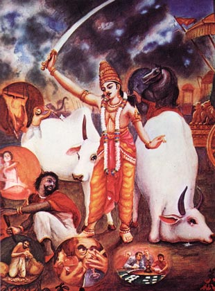 M-Pariksit-menacant-de-tuer-Kali