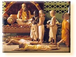 Prabhupada-avec-des-enfants-du-gurukula